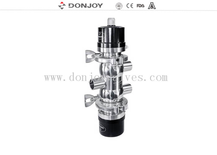 SS304 / 316 Pneumatic bottom tank valve with Plastic Actuator Welding Ends