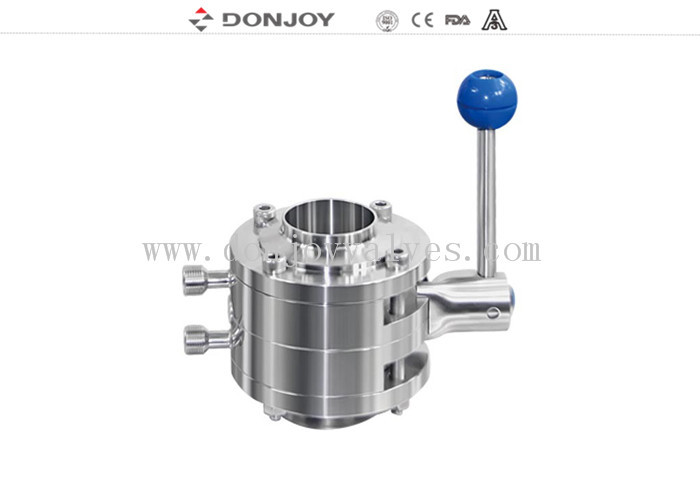 DN25 Sanitary Mixproof Butterfly Valves For Home Brewing