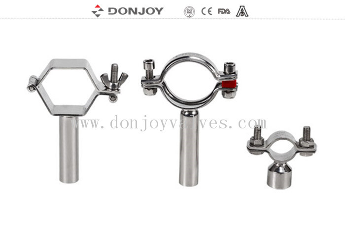 SS304 heavy duty clamp pipe holder / tc clamp / pipe with Thread or Bar