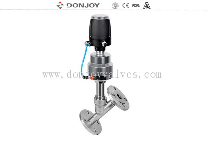 Steam 2 Position Sanitary PN16 Flange Angle Seat Valve