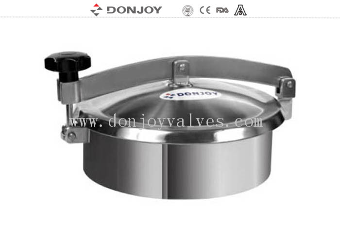250mm Non Pressure Round Tank Manhole Cover with stainless steel 304 Handle
